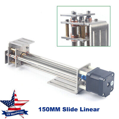 150mm 3 Axis Z Axis Slide Linear Motion Ball Screw Engraving Machine 4wire Motor