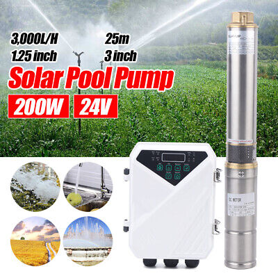 3 Solar Panel Dc Deep Well Water Pump Controller Submersible Pump System