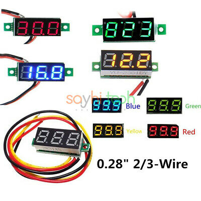 0.28 Inch Digital Led Tube Display Dc 4-30v Voltmeter Voltage Panel Meter