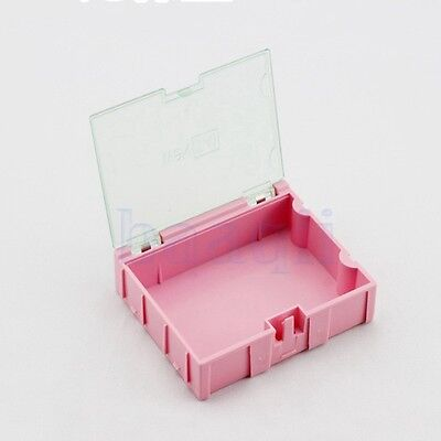3pcs 3smt Smd Kit Parts Components Resistor Storage Boxes Pink 756321.5 Ma
