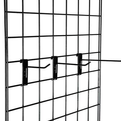 18 Pcs Black Long Gridwall Wire Metal Hooks Display Grid Panel Hanger Retail