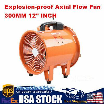 Portable 12 Extractor Fan Blower Ducting Fan Fume Utility Ventilation Exhaust