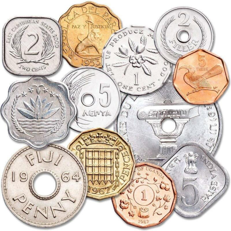 Set of 12 Odd Shaped World Coins
