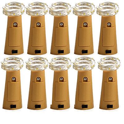 (USA Wine Bottle Cork Shaped Starry Night Led Light Strips Lamp Party Faity Decor)
