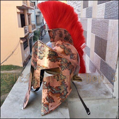 300 Spartan Leonidas King Medieval Greek Armor Helmet w Liner red CHRISTMAS Gift