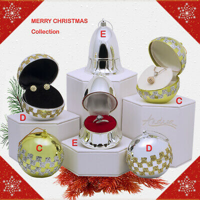 Merry Christmas Ball Ornament Jewelry Gift Box for Earring Ring Pendant Necklace ()