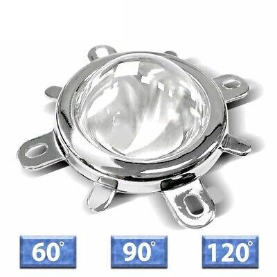 Led Lens Optical Glass 60-120 Degree Reflector Collimator Fixed Bracket 10-100w