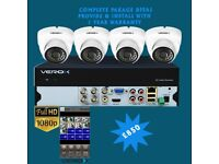 4 Camera Full HD 1080P Home & Business Complete Package Deal CCTV Cameras Systems Kits