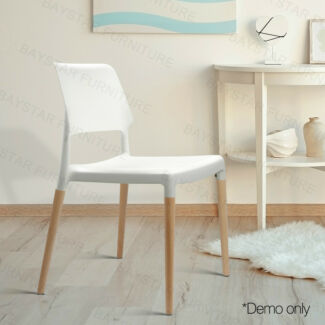 Contemporary Solid Beech Wooden Stackable Dining Chair