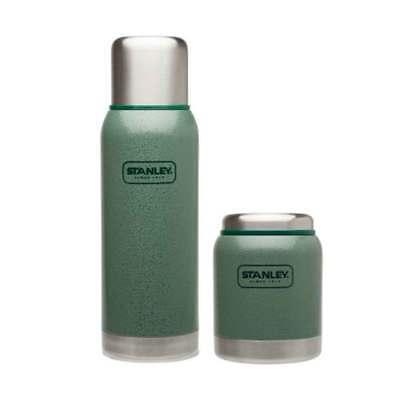 Stanley Adventure Combo 2PK StainlessSteel Insulated Vacuum Bottle FoodJar Green
