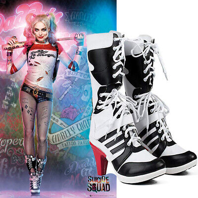 Harley Quinn Cosplay Suicide Squad Anime Schuhe Fußbekleidung Kostümschuhe - Harley Quinn Kostüm Schuhe