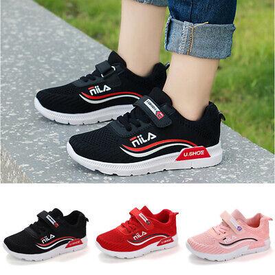 Jungen Mädchen Atmungsaktiv Sportschuhe Kinderschuhe Turnschuhe Sneaker Gr.27-37 ()