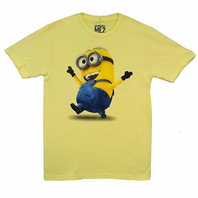Despicable Me 2 Strolling Minion Movie Licensed Adult T - Adult Minion Shirt