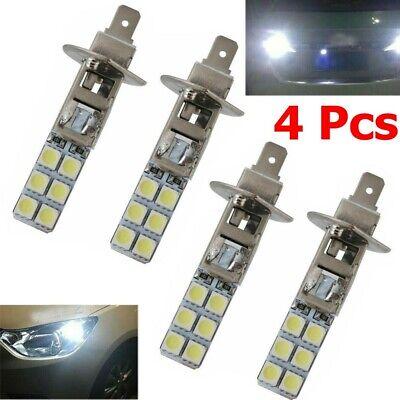 4Pcs H1 Replacement Headlight/Fog Light Bulbs Bright White 5050 6000k 12V 12-LED