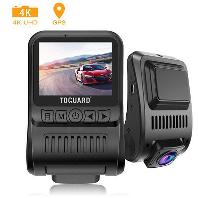 "Dash Cam 4K TOGUARD GPS HD Dashboard Camera Cars 2"" 170° Driving Recorder Camera"