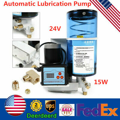Electric Grease Pump Oil Automatic Lubricant Punching Oiler Pump 60ccmin 2l Us