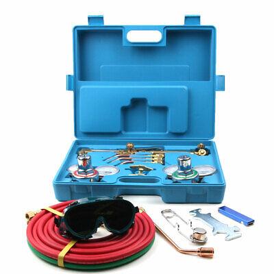 Portable Welding Cutting Kit Acetylene Oxygen Torch Set Regulator W 3 Nozzles