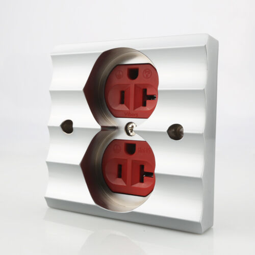 Viborg Pure Red Copper Gold US AC Power Receptacle Wall Outlet Copper Socket