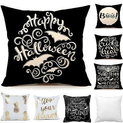 Happy Halloween Cushion Pillow Case Throw Home Decorative Throw Pillow Cover