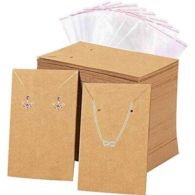 Earrings And Necklace Display Cards With 100 Self-sealing Bags Holder For Home