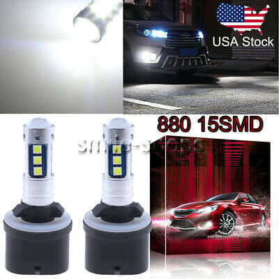 880 899 3030 Chip 15SMD LED Kit Fog Light Super Bright 6000K Diamond White