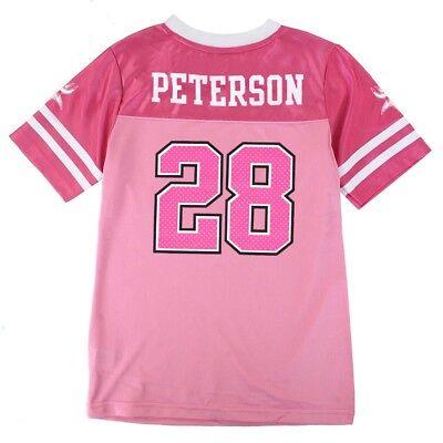 Adrian Peterson NFL Oakland Raiders Mid Tier Replica Pink Jersey Girls (7-16) ()
