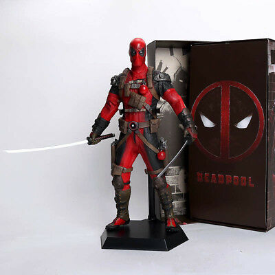 "Marvel Deadpool Action Figure Toy Collectible 30CM 12"" PVC Model Superhero Gift"