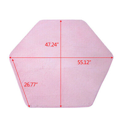 Children Kids Princess Castle Play Tent Hexagon Rug Bedroom Floor Coral Pink - Palace Floor