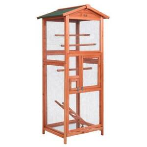 Bird Cage Wooden/Mesh Large Aviary 168cm Tall Roof Protection Kings Beach Caloundra Area Preview
