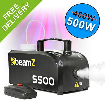 BeamZ Compact s500 Christmas Smoke Fog Mist Machine with Remote Control & Fluid