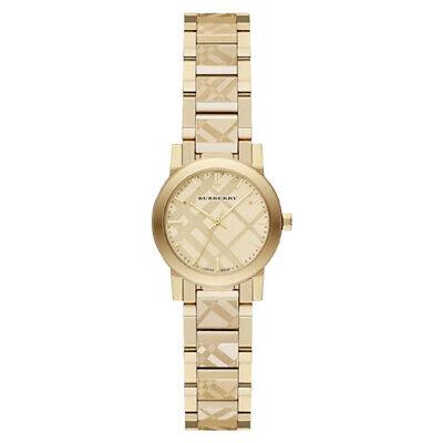 100% New Burberry BU9234 The City Swiss Gold Ion-plated Bracelet Women's Watch