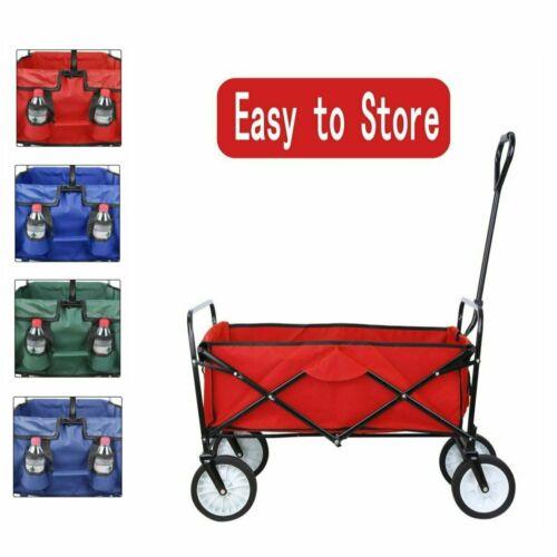 Kid Beach Collapsible Wagon Cart Folding Garden Trolley Camp