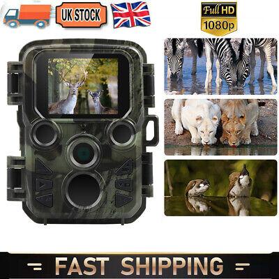 Mini 20MP Hunting Trail Camera Wildlife 1080P Scouting Trap Cam Night Vision UK