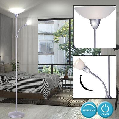 Steh Lampe Lese Licht Leuchte Wohn Ess Raum Zimmer Beleuchtung Flur Fluter Büro ()