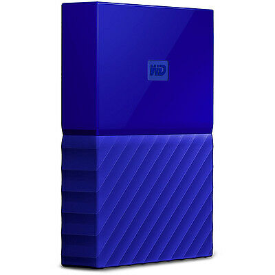 Western Digital WD 3TB My Passport Portable Hard Drive - Blue