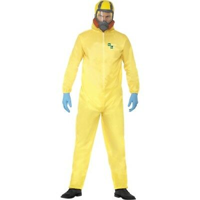 Breaking Bad Costume - Hazmat Suit Fancy Dress Walter Mens White Yellow Adult - Breaking Bad Halloween Costume Hazmat Suit