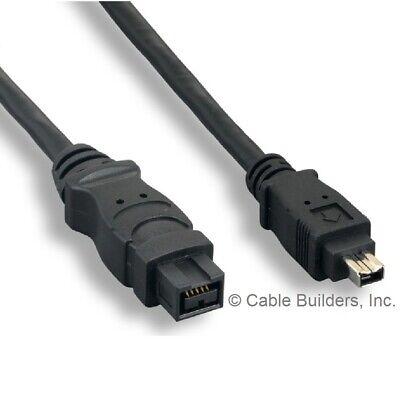 6FT FIREWIRE CABLE 9 PIN to 4 PIN IEEE1394B 800 TO 400 9P-4P 9-4 1394A-B 6'