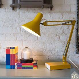 Restored Yellow Italian Desk Lamp