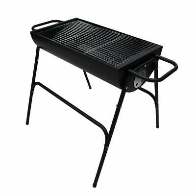 Large Black Family Drum Charcoal BBQ Barbecue Grill Outdoor Garden Patio Stove