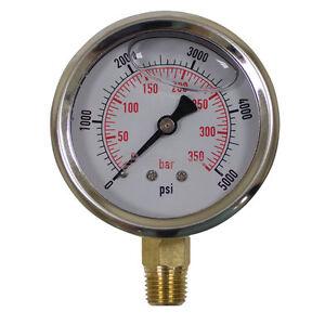758-974 Stens Pressure Washer Gauge pressures to 5000, 1/4