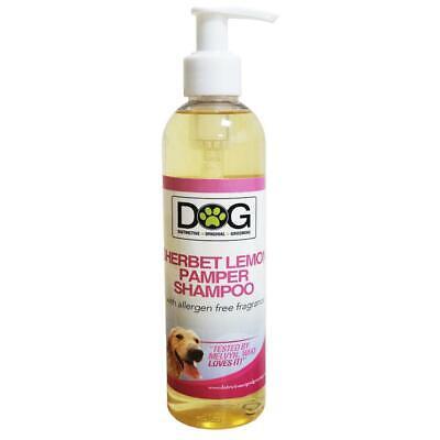 250ml Distinctive Original Grooming Dog Sherbet Lemon Pamper Shampoo