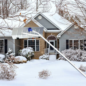 20 FT Winter Lightweight Shovel Snow Roof Rake Cleaner Long Extendable Handle