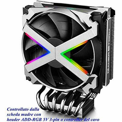 FRYZEN Air CPU Cooler For AMD TR4/AM4, Addressable RGB Top C