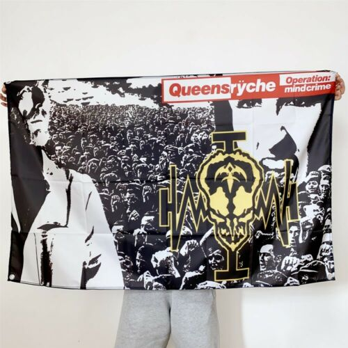 Queensryche Banner Operation Mindcrime Tapestry Cover Flag Fabric Poster 3x5 ft