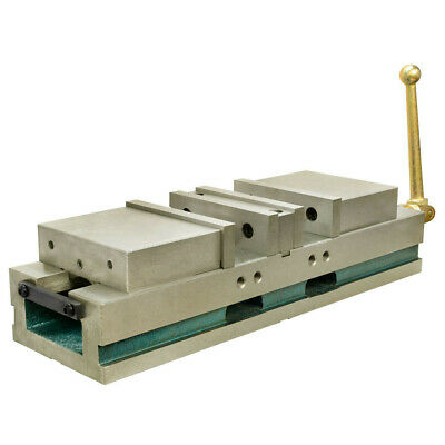 Clamp 3.5 In Jaw Opening 6 In Cnc Double Vise Milling Lock Down Hardened .0004