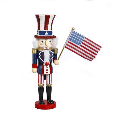 "[Kurt Adler Hollywood Nutcracker - Uncle Sam Christmas Nutcracker 15"" C6059 New</Title]"