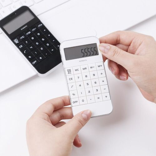 Portable Office Pocket Cheap Display Electronic Black White Digit Calculator