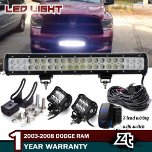 20 126w Led Light Bar Dodge Ram Dart Durango Front Bull Barper Grill Guard Fits Dodge Grand Caravan