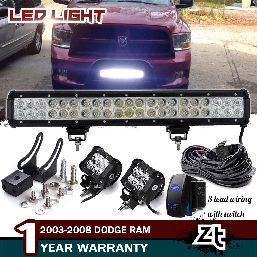 """For Toyota 4Runner Tacoma RAV4 1990-2018 20/"""" Inch LED Work Light Bull Bar Combo"""