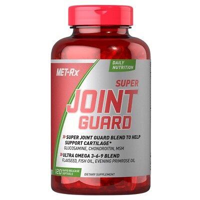 Met Rx SUPER JOINT GUARD Glucosamine Omega-3 Fish Oil Met-Rx 120 Softgels